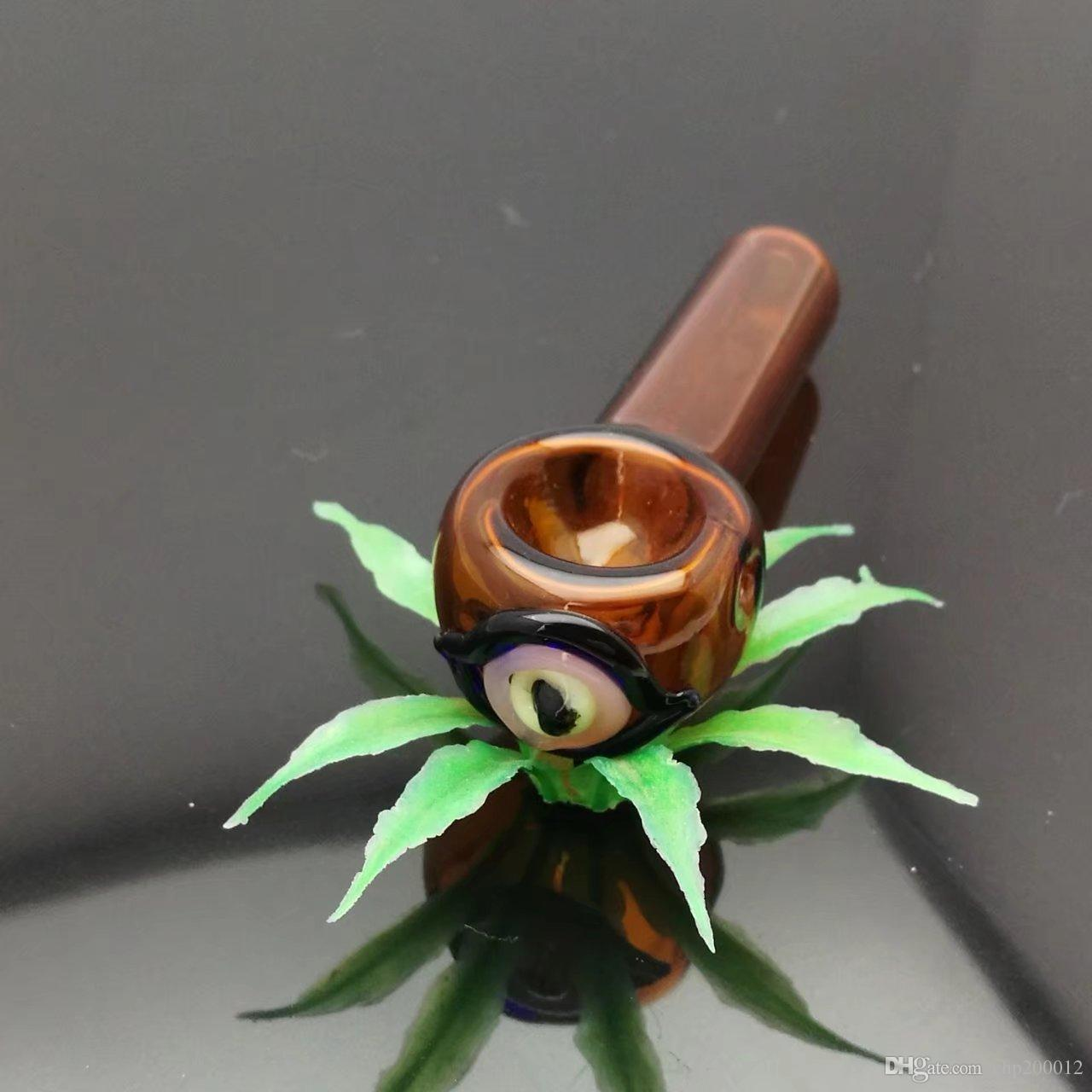 Corto quemador de vidrio coloreado Mini fumar manija tubos pipas de fumar Quemador de aceite quemador de alta calidad