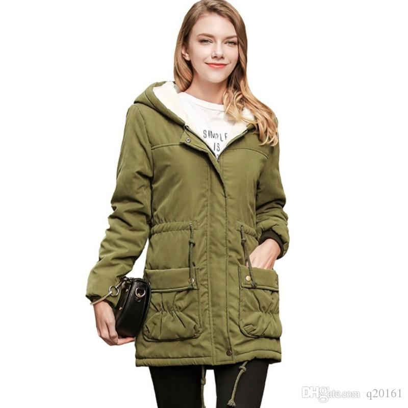 8b1c55622 Veste D hiver Femmes 2017 Long Parkas Femmes Femmes Grande Taille Manteau D  hiver Chaud Veste Épaississement Coton Outwear Parkas pour Femmes Hiver