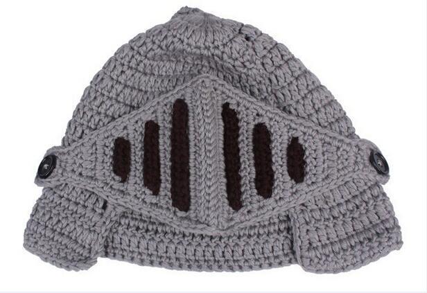 Neuheit Familie Hut Roman Knight Helm Caps Gestrickte Warme Wintermaske Hüte Vater Baby Kinder Maske Caps Weihnachten Hallowmas Beanie Kopfbedeckungen
