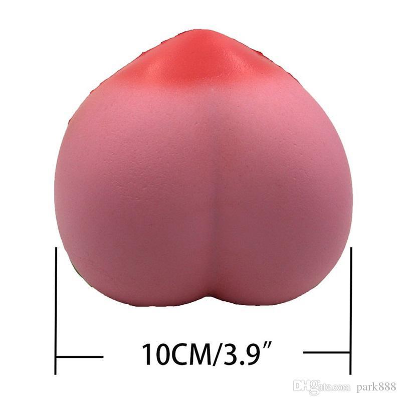 10 см Джамбо Каваи болотистый медленный рост персик кулон телефон ремни подвески Queeze детские игрушки симпатичные squishies хлеб новая игрушка