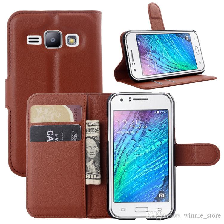 lowest price 20c38 74cbd For samsung galaxy J1 4G Leather Wallet ID Credit Card Holder Stand Flip  Case Cover 9 colors choose