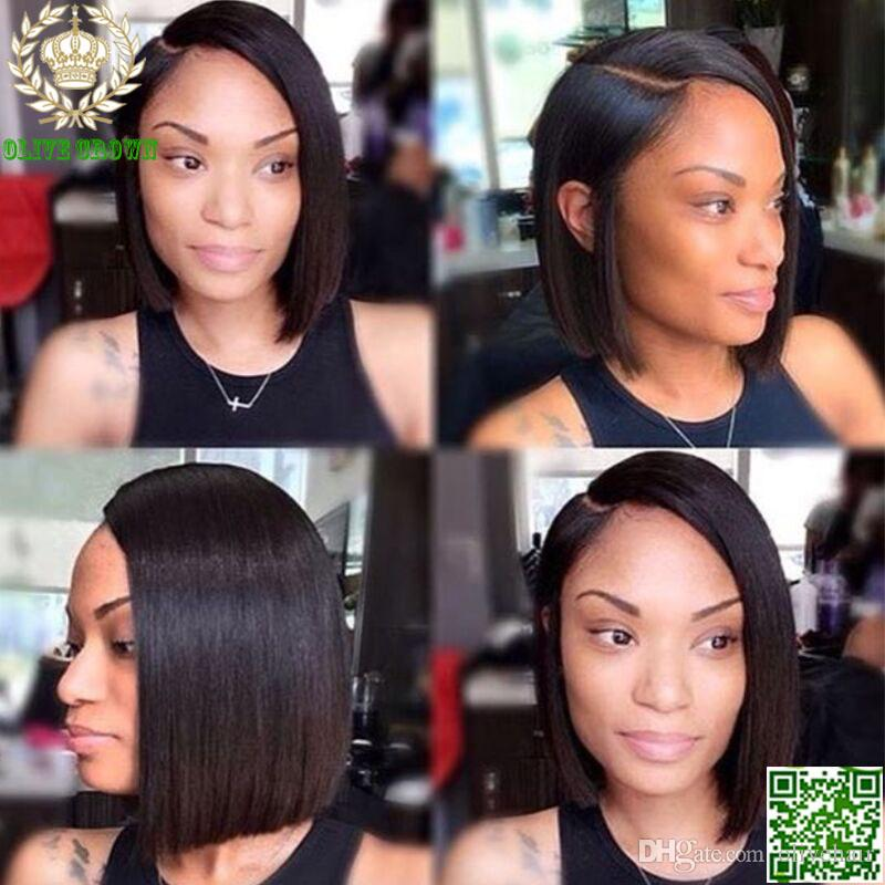 Short Bob Cut Lace Wig Silky Straight Lace Front Wig Brazilian Human Hair Glueless Full Lace Wigs For Black Woman