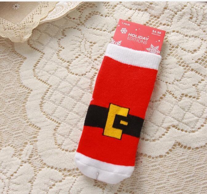 Kid 2016 Garçons Filles De Noël Chaussettes avec Imprimer Bébé Cerf Flocon de Neige Santa Enfants Automne Hiver Infantile En Gros Chaussettes Pour 1-10 T 6 Styles