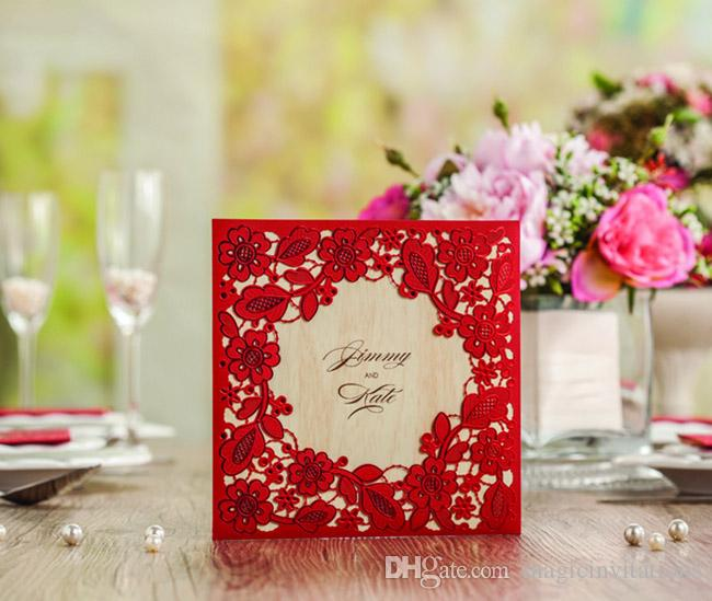Chic red pocket laser cut shape free customized printing wedding chic red pocket laser cut shape free customized printing wedding invitation cards wreath wedding invitations made in china make greeting card make greeting m4hsunfo