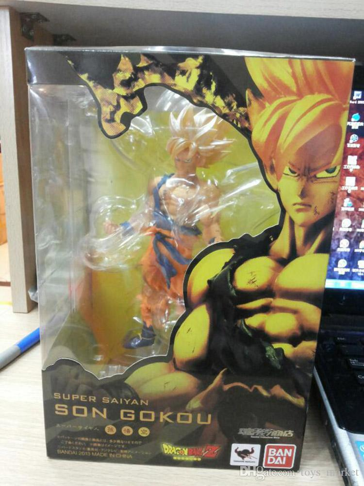 Anime Dragon Ball Z Super Saiyan Son Goku PVC Action Figure Collectible Toys 17CM Kids toys