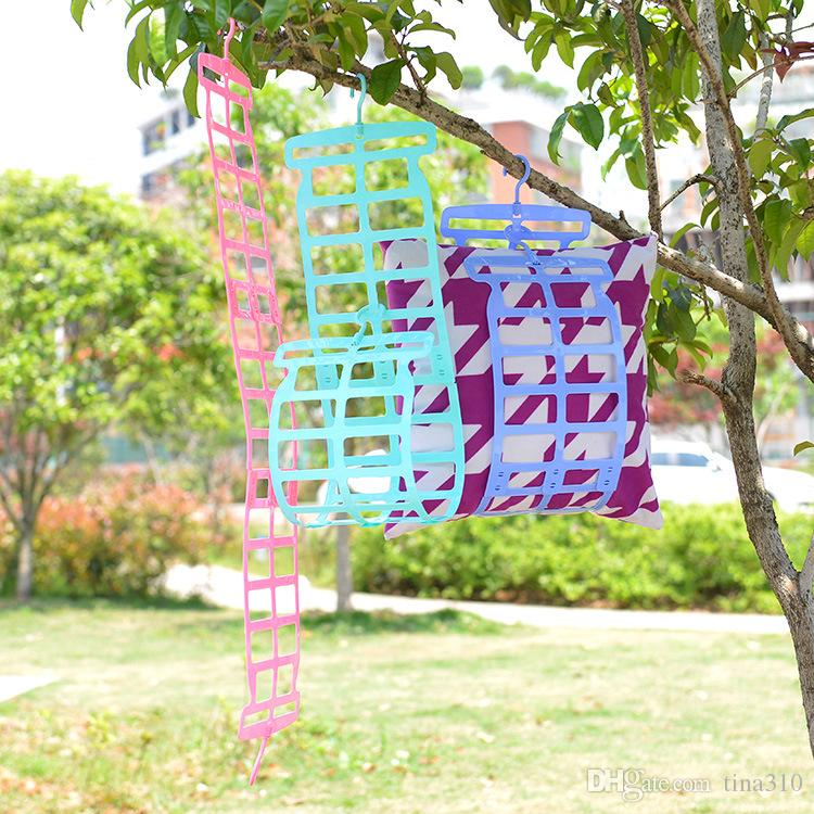 Top Quality Double Hook Practical Drying Pillow Rack Pillow Plush Toy Clothes Drying Rack Sweater Multi-function Hangers B0680