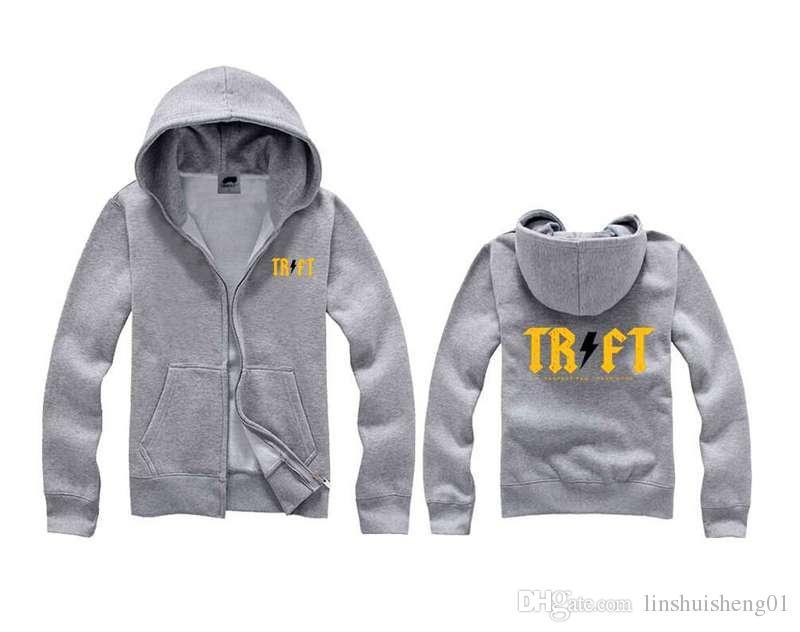 Mode livraison gratuite Trukfit Hoodies et sweatshirts pour hommes gris-noir hoodies pullover hip hop Hoodie