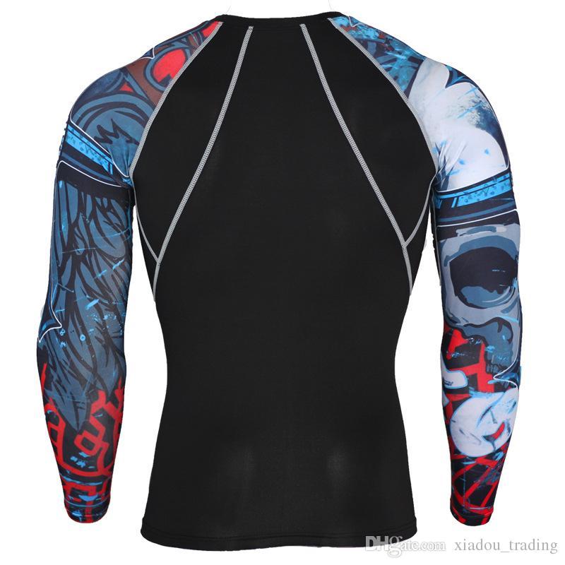 Moda DIY Baskı ve Boyama Kol Spor Çabuk kuruyan Spor T-shirt Basketbol Koşu Gym Elastik Eğitim Sıkıştırma Giyim 7 Metre
