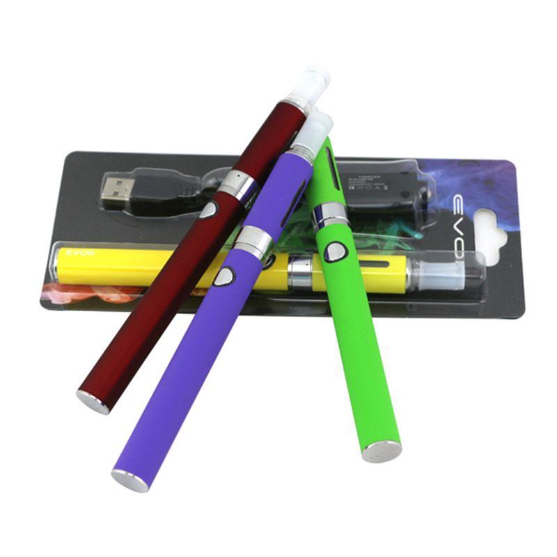 MT3 EVOD Blister Kits Mt3 Atomizer Evod Battery Ego Evod Mt3 Kits 650mah 900mah 1100mah 510 Thread Battery Cartridge E Cigarette Kits