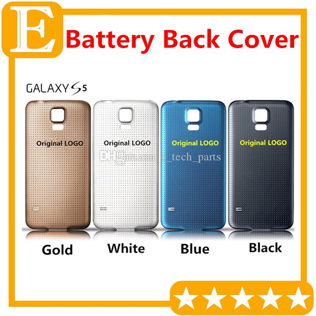 for Samsung Galaxy S5 I9600 G900F G900T G900P G900V M Rear Back Battery Door Cover Housing With Rubber Mat Waterproof Replacement Parts