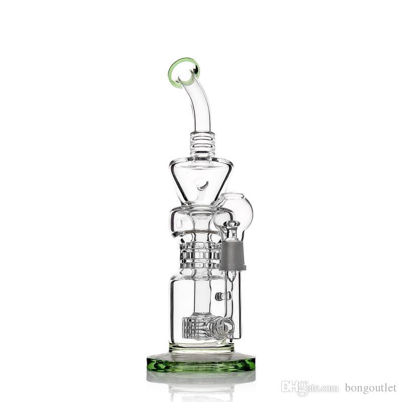 Narghilè altezza di bong 13 pollici di asta filtro pneumatico petrolifera con tubo acqua 18mm giunto maschile