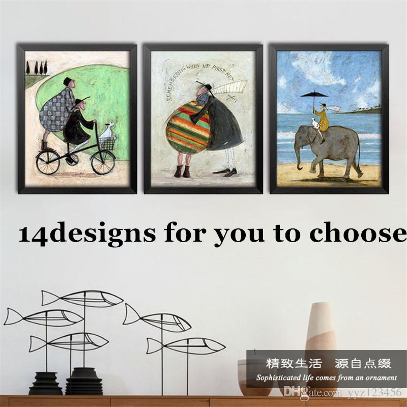 2017 Northern Europe Style Wall Art Decor Painting Cartoon Modern Bar  Restaurant Retro Abstract Canvas Oil Painting Home Decor From Yyz123456, ... Part 86