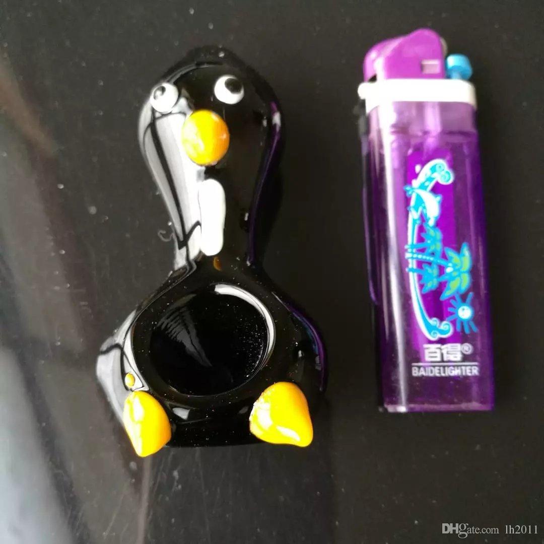 Nueva tubería de pingüino, Bongs de vidrio al por mayor Quemador de aceite Tubos de vidrio Tuberías de agua Plataformas petroleras Fumar Envío gratis