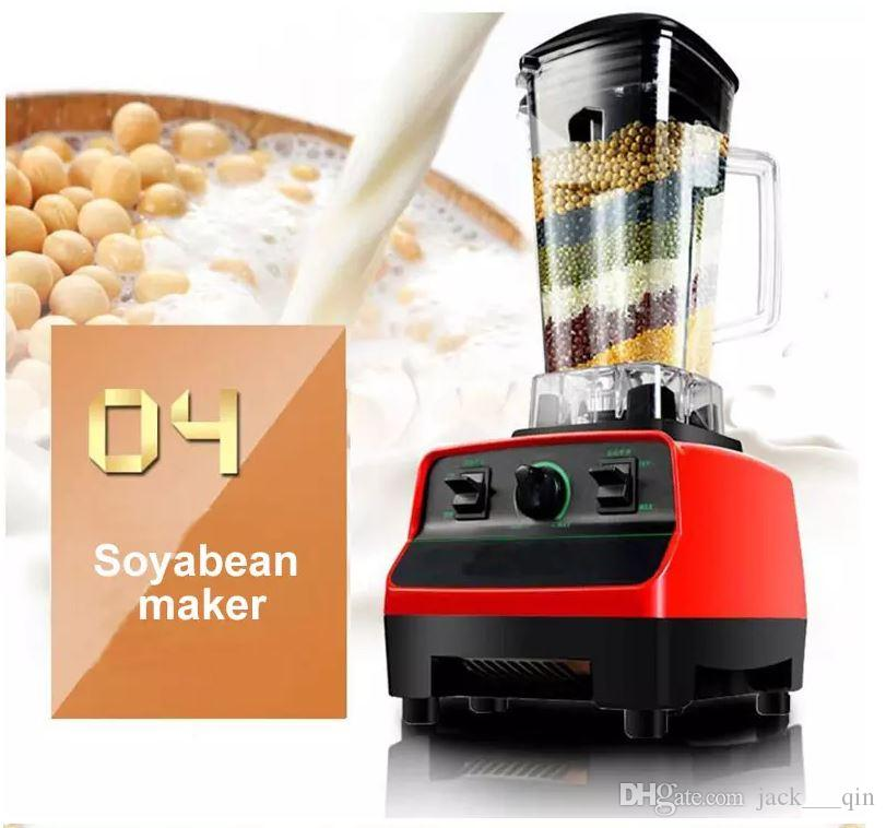 commercial 2L electric juice food blender juicer ice crushing juice maker machine for fruit fish soybean nut