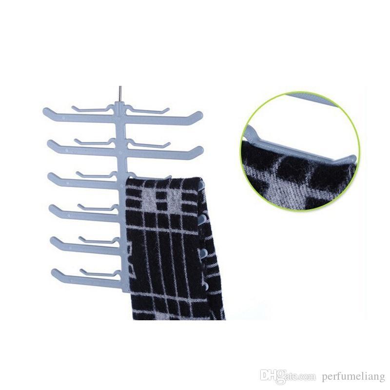 forme de poisson en osier 6 couches multifonctionnelle cravate cravate serviettes ceinture châle foulard Rack gain de place ZA0772