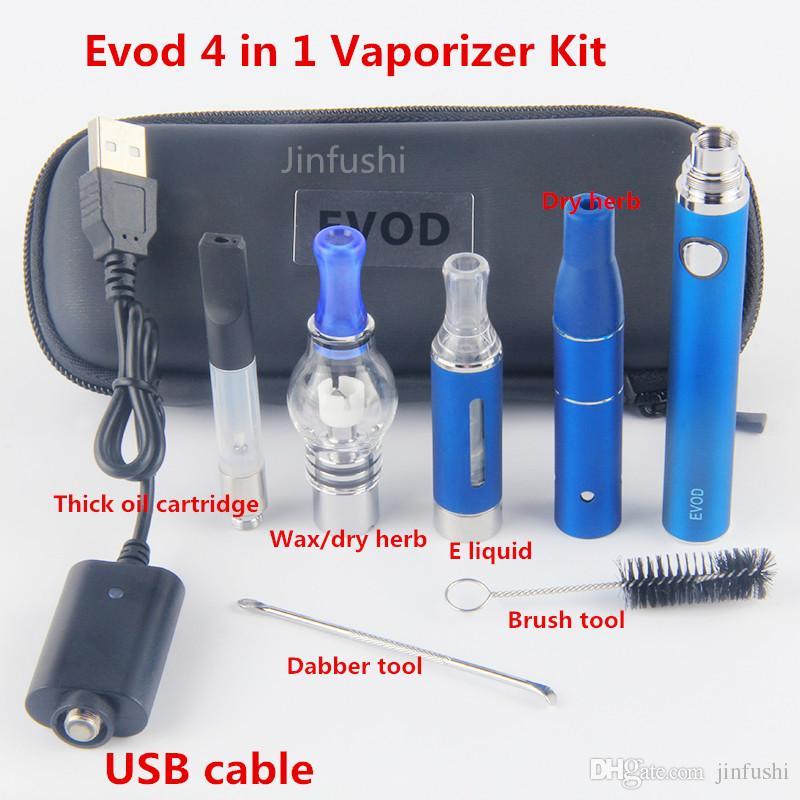 Evod 4 In 1 One Multi Vape Vaporizer Starter Kit Dry Herb