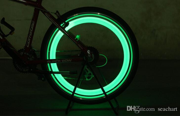 New Bike Bicycle LED Wheels Spokes Lamp wheel Lights Motorcycle Electric car Silicone flash alarm light cycle accessories SC040