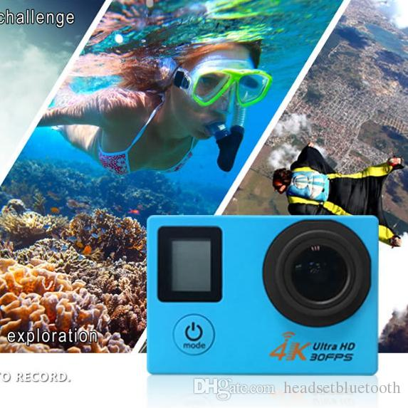 4K/30FPS 2.7K Action Camera Double LCD Display 12MP WiFi Sports Camera 30M Waterproof mini camcorder 170 angle Kamera
