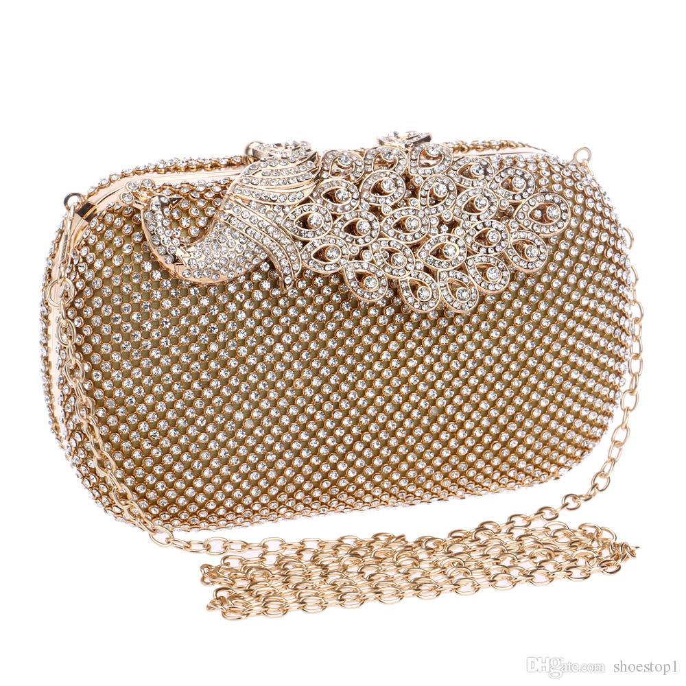 cab8fe00e611 New Fashion Evening Bags Women Party Wedding Bags Handbags Clutches Diamond  Hasp Beading Women Clutch Handbags Wallet Purse Silver Clutch Crossbody  Purse ...