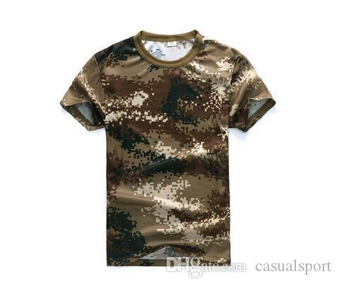 161f17a5 Summer Man Casual Camouflage T Shirt Men Cotton Army Tactical Combat T  Shirt Military Sport Camo Camp Mens T Shirts Fashion Tees Order T Shirts  Quality T ...