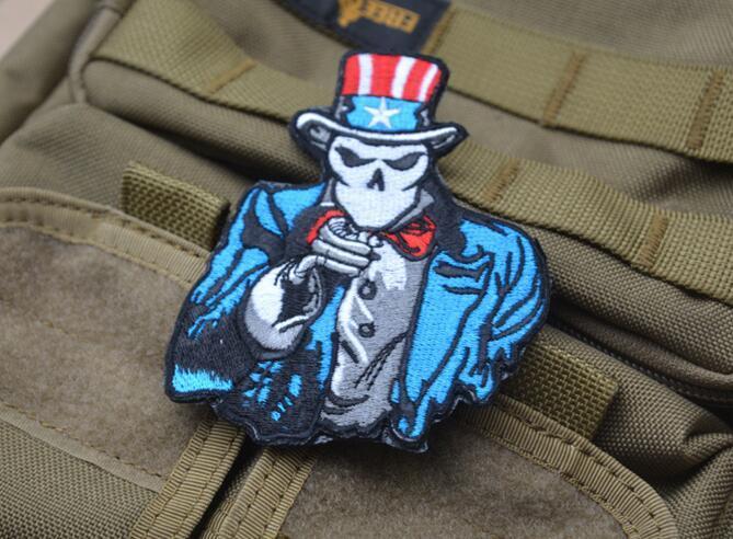 GPS-027 3 * 3,7 polegadas Atacado patch de Patches 3D bordado com fita mágica American Flag EUA EUA Tio Sam crachá braçadeira acessórios de vestuário
