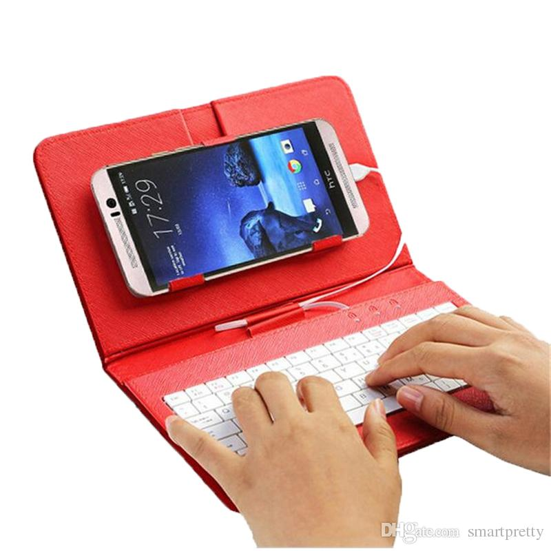 Interface Keyboard cases flip PU leather kickstand case with stand holder laptop keyboard covers for samsung s7 s6 with otg function