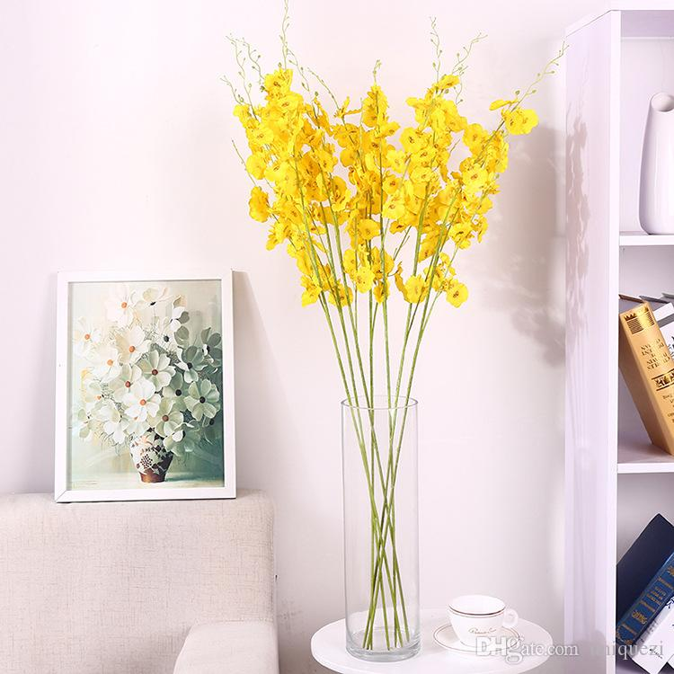 Simulation Flower Silk Cloth Butterfly Orchid Living Room Fake Flower  Decoration Wedding Home Decoration Flower Ground Yellow Dancin Home Decor  Art Home ... Part 42