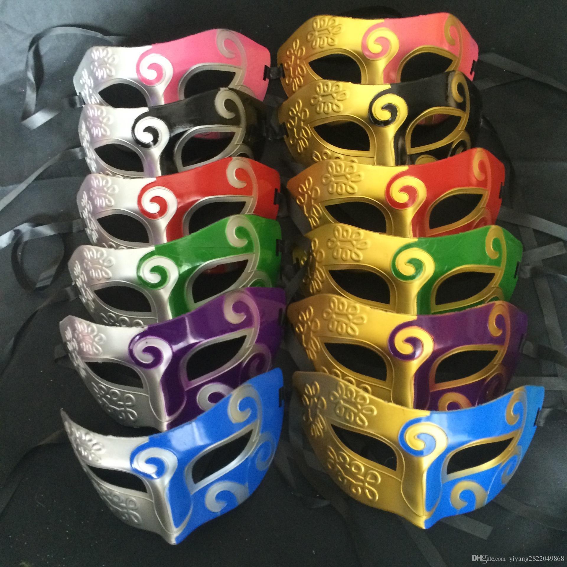 Dhl Retro Roman Gladiator Halloween Party Facial Masquerade Mask ...