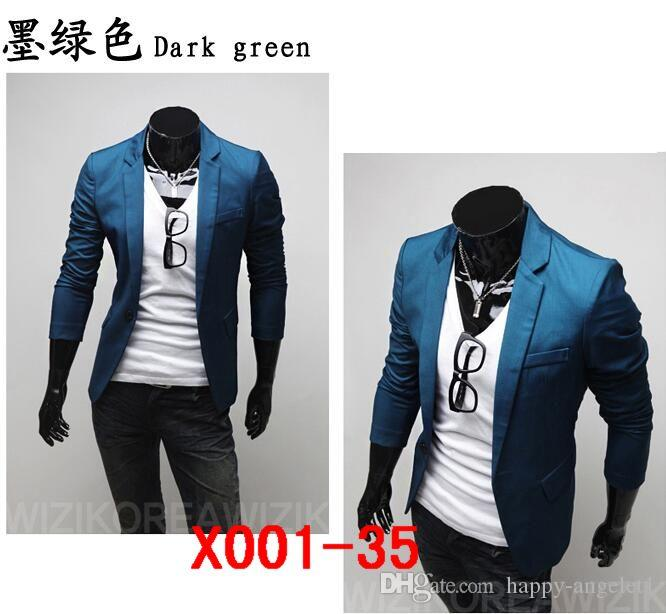 Hot 2016 new autumn and winter hit color small collar men's casual business casual suit jacket 38 colour