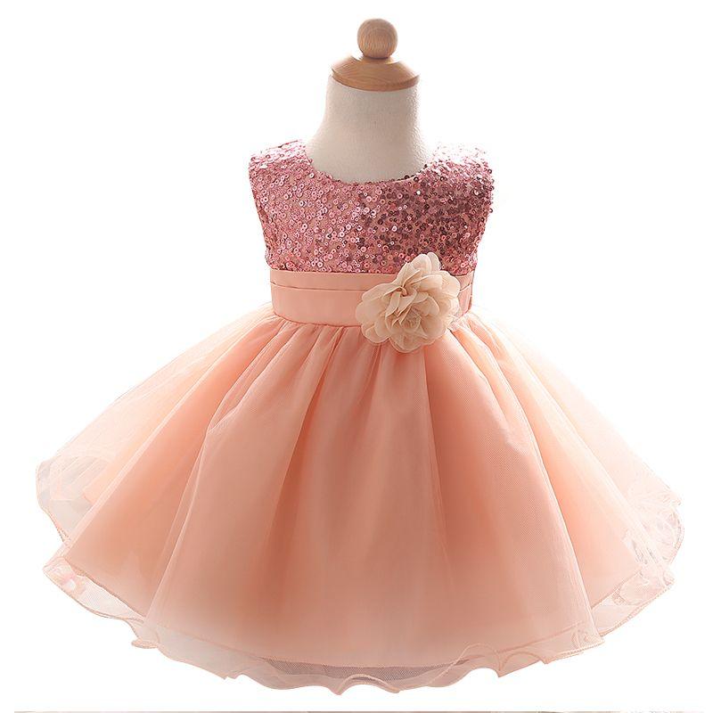 2018 Wholesale Newborn Baby Girl Dress For Girls Ceremonies Party