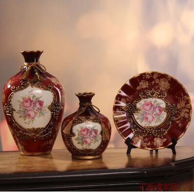 04ceramic Vases Three Piece Suit Europe Type Restoring Ancient