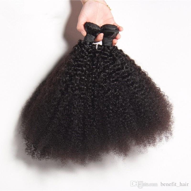 8A 처리되지 않은 말레이시아 곱슬 곱슬 머리카락 3 묶음 / 많은 인간의 머리카락 짜다 아프리카 곱슬 머리 곱슬 머리 우먼 무료 배송