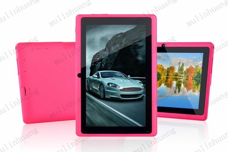 Q8 7 inch A33 8GB Quad Core Tablet Allwinner Android 4.4 KitKat Capacitive 1.5GHz 512MB RAM 8GB ROM WIFI Dual Camera Flashlight Q88 MQ50