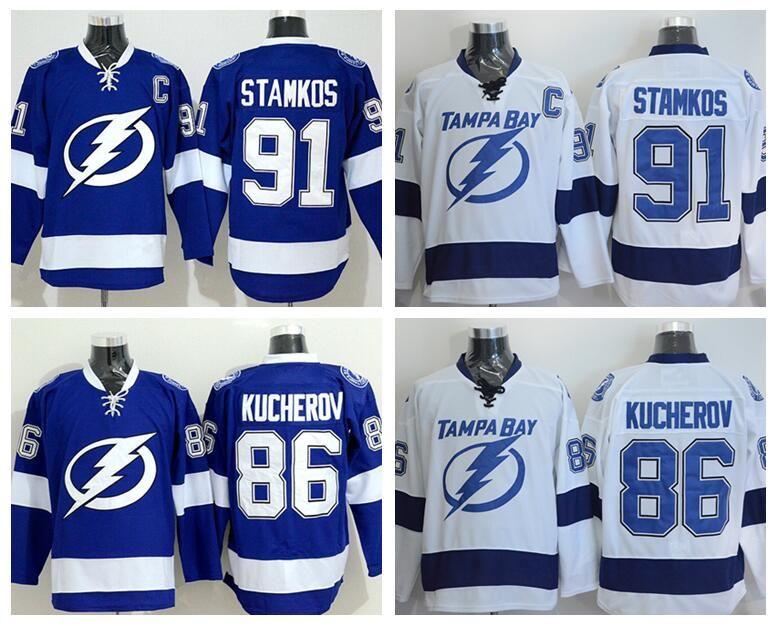 2019 Hot Sale 91 Steven Stamkos Jersey Tampa Bay Lightning 86 Nikita  Kucherov Ice Hockey Jerseys Team Color Blue White Stitched Best Quality  From ... bf9b008ad