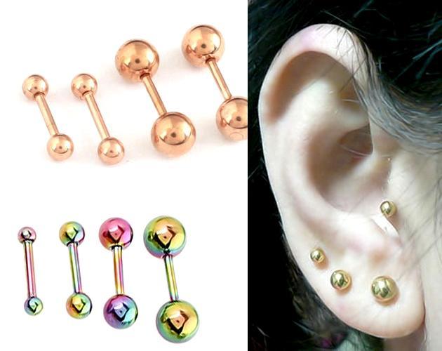 Body Jewelry Jewelry & Accessories Crystal Ear Nail Bone Barbell Bar Earring Piercing Lip Men Women Body Jewery Helix Tragus Piercing Cartilage Belly Button Ring