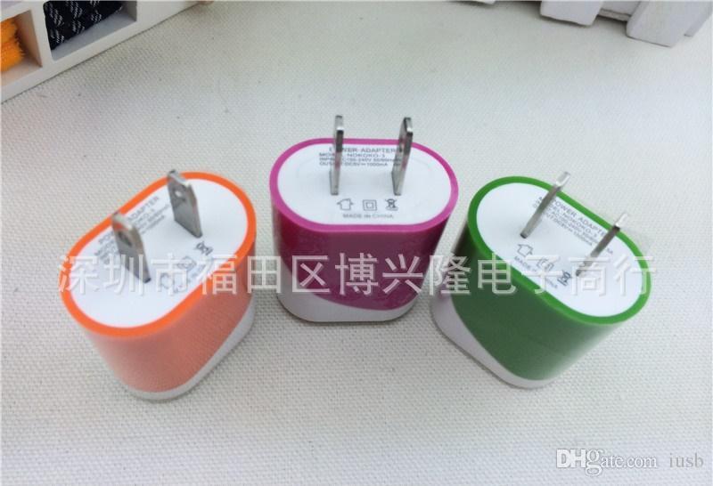 5V Pleine 1000MA 1A Double Couleur Oeuf Rouleau US Plug Wall Chargeur AC Adaptateur De Voyage Pour Samsung Galaxy S4 S6 S7 Note 4 iPhone 4 5 6 LG HTC