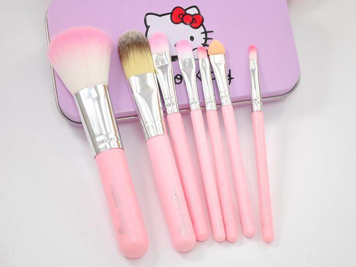 2445dff49 Hello Kitty Professional Makeup Brushes Set Pink Black Brand Cosmetics Kits Make  Up Brush With Iron Metal Box Cheap Dhl Free Ship Cosmetic Makeup Brush Set  ...