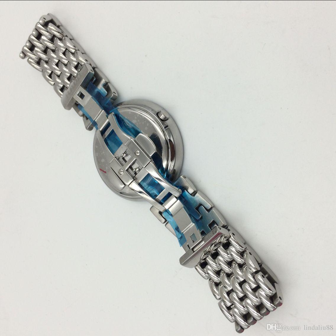 I nuovi cinturini a maglie rotonde maschio femmina di alta qualità in acciaio inox quarzo impermeabile amanti della moda orologio