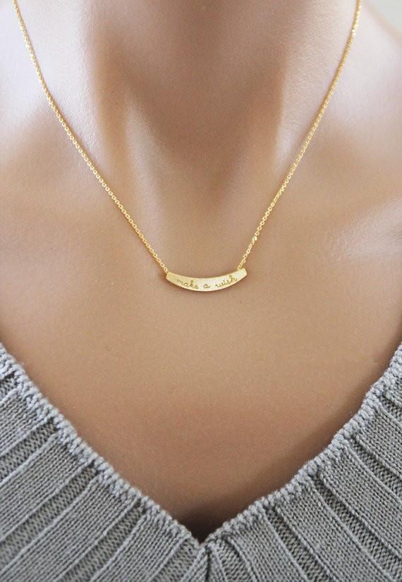 Hot vente hippie chic ligne d'arc petit pendentif jeton collier Bohemian mode femmes Neclaces 2016 ms collier mince