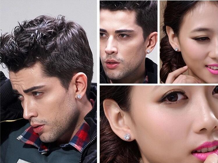 Heiß! 925 Sterling Silber Krone Form Zircon Ohrringe Korea Europa für Frauen Hochzeit Schmuck Fabrikpreis Verkäufe elegante Nicht fade Geschenkbox