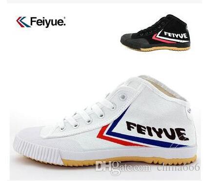 Livraison gratuite Feiyue Toile chaussures pour hommes et femmes seniors chaussures de tennis, chaussures de sport, chaussures de toile couple haut-bas sneakers es /