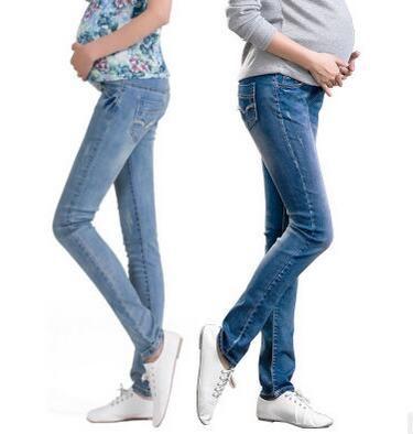 Pantaloni premaman in maternità donne in gravidanza Pantaloni magri in gravidanza Pantaloni in denim l'estate Plus Size XXL