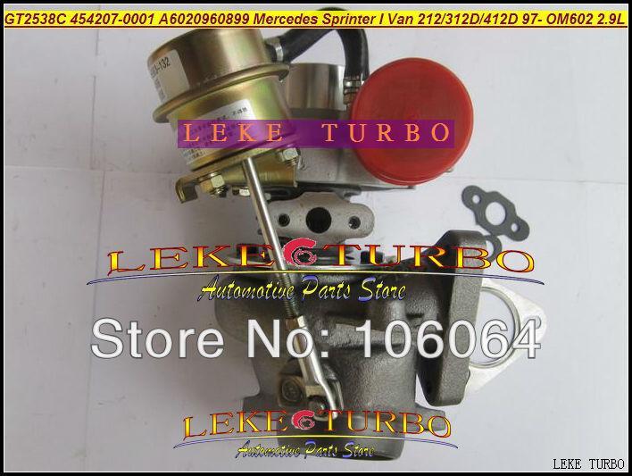 GT2538C 454207-0001 6020960899 For Mercedes-PKW Sprinter I Van 212D 312D 412D 2.9L OM611 141HP 2000-2006 turbocharger - (6)
