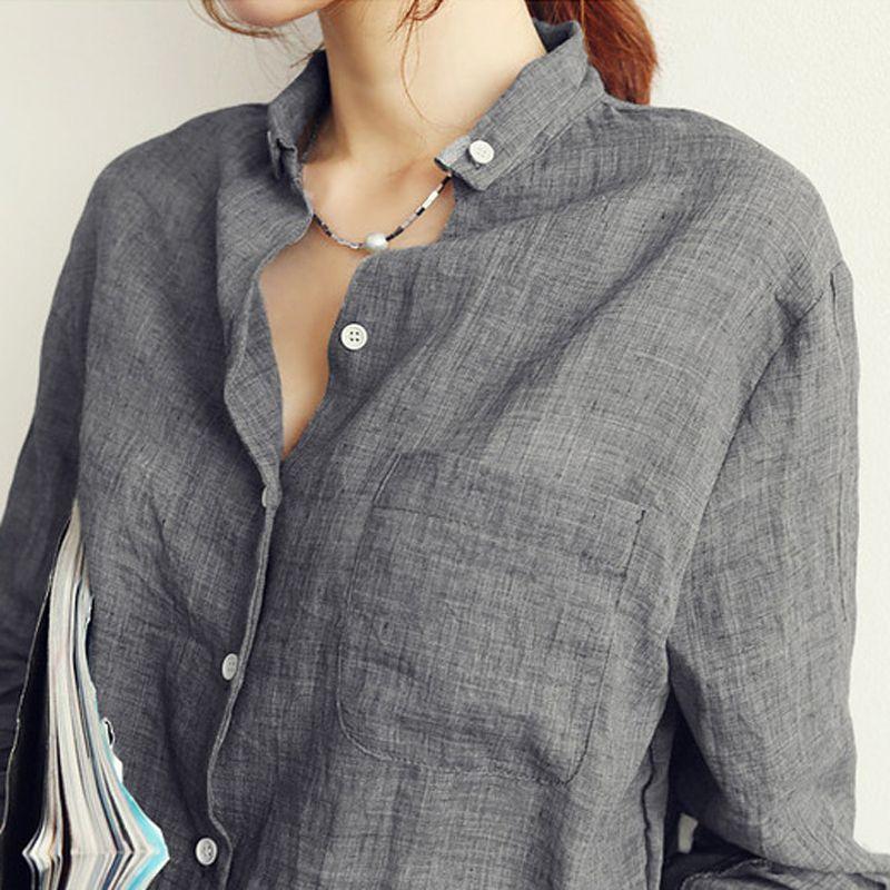 Hauts Femininas Chemise Blusas Blouses Lin Femme Roupas Vêtements Femmes Plus Mode Vetement Blouse Taille Blanche qzUMpSV