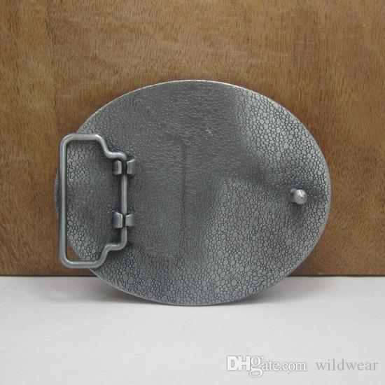 BuckleHome Cross belt buckle religious belt buckle with pewter finish plating FP-01738-1