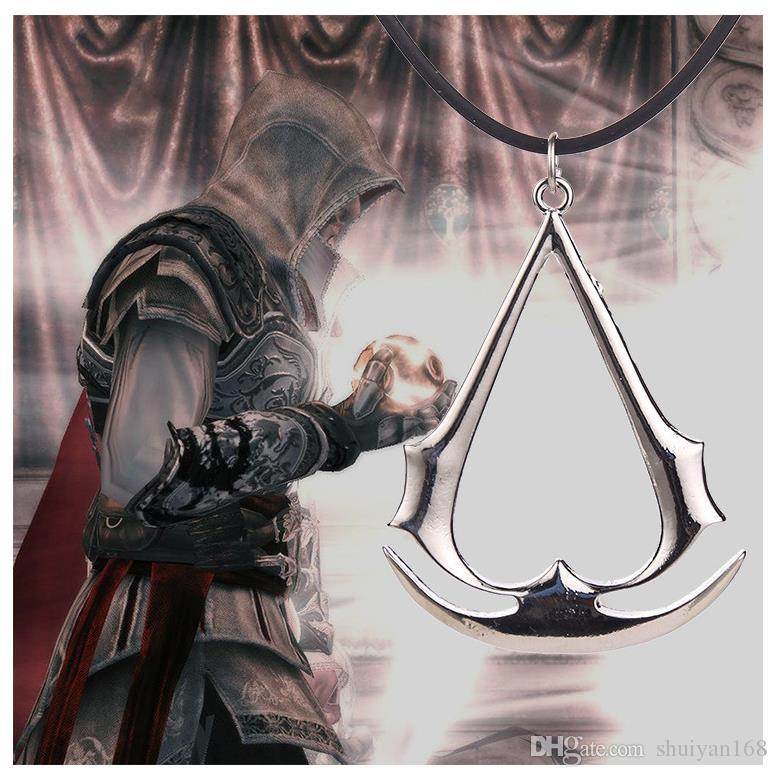 Assassin Creed Game Necklace Pendant Deiss Mond Pendants Necklaces Gold Silver Charm Necklace Statement Pandent Jewelry DHL