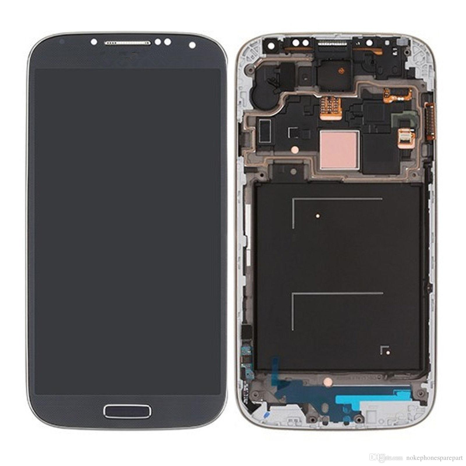 Black LCD Display Touch Screen Digitizer with Frame For Samsung Galaxy S4 i9500