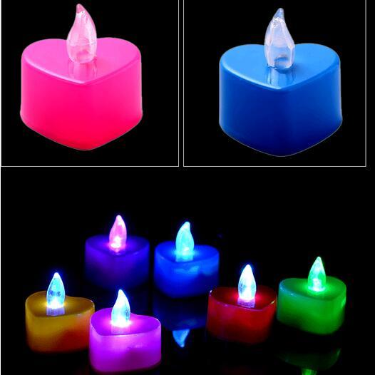 Delightful Flameless Candles Heart Shape Tea Light Flickering Flicker Fiber Optic  Decoration LED Lights For Wedding Birthday Party Flameless Candles Fiber  Optic Led ...