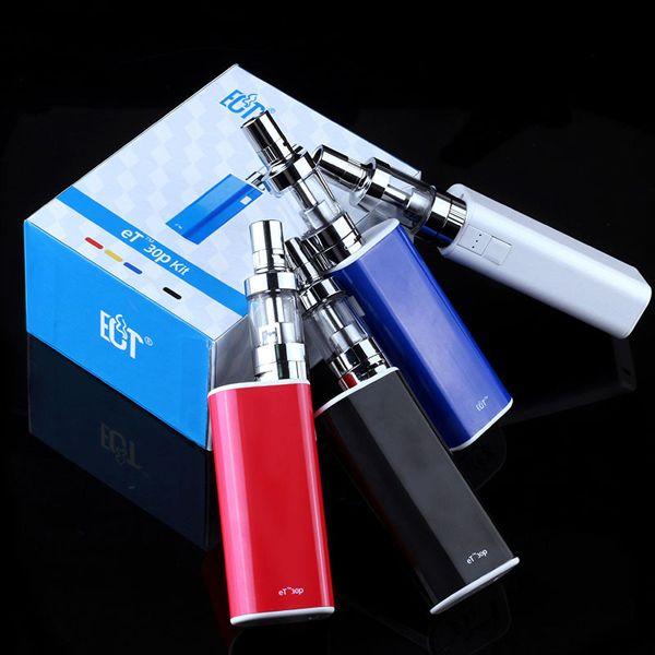 Оригинальная ECT Box Mod Лучшая электронная сигарета ET30P Kit с 2.5 мл мини-противотуманным баком 2200mAh ET 30P VS Jomo Lite 40 Вт