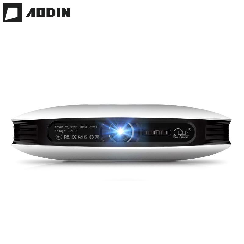 f99ba1caf550ea 2019 Wholesale AODIN M18 Mini LED Projector 4K 3D DLP Projector Pocket  Android HDMI Input 2G DDR3 Full HD 1080P Portable Projector Home Theater  From Pastry, ...